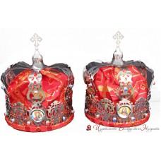 Венчальная пара никель красный